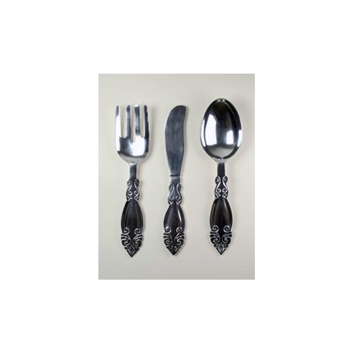 Modern Day Accents 3 Piece Fork, Knife and Spoon Wall Décor Set