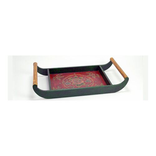Modern Day Accents Painted / Embossed Tray with Handles