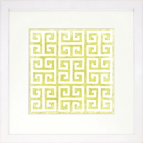 Modern Living Modern Symmetry IX Framed Graphic Art in Chartreuse