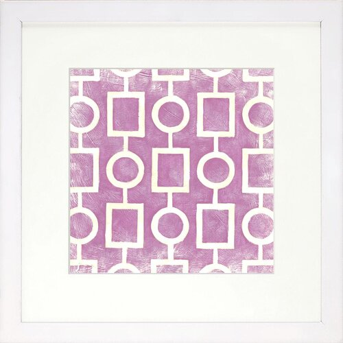 Modern Living Modern Symmetry IV Framed Graphic Art in Grape
