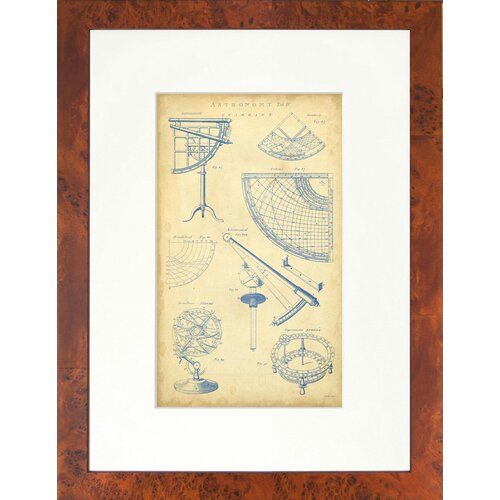 Indigo Avenue Seaside Living Vingate Astronomy I Framed Graphic Art