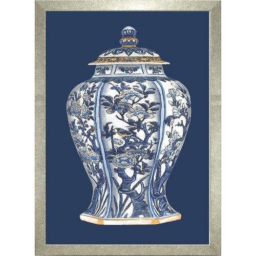 Fresh Traditions Living 'Porcelain Vase I' Framed Painting Print
