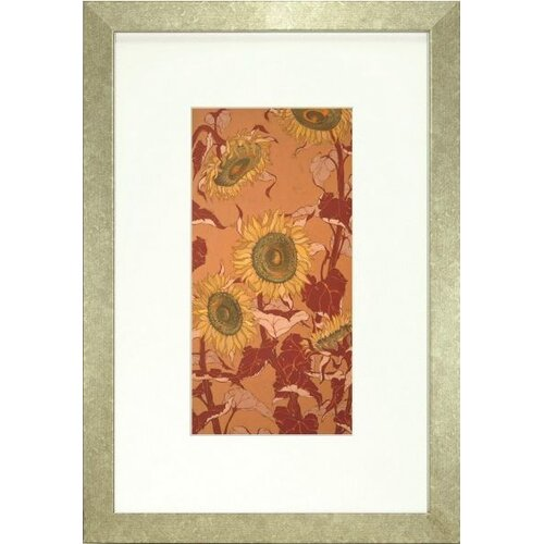Indigo Avenue Floral Living Sunflower I Framed Painting Print