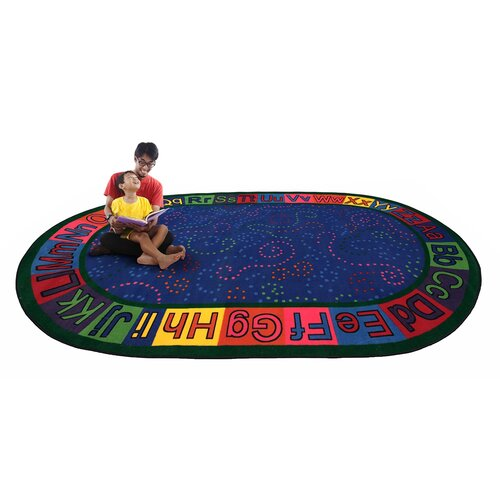 KidCarpet.com Alpha Circle Time ABC Blue Area Rug