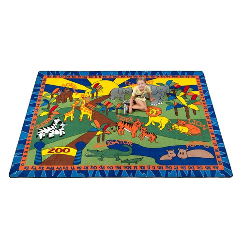 KidCarpet.com Animals at the Zoo Kids Rug