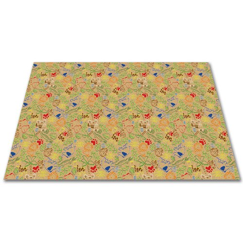 KidCarpet.com Animal Doodles Multicolor on Tan Kids Rug