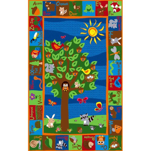 KidCarpet.com Forest ABC Animals Kids Rug