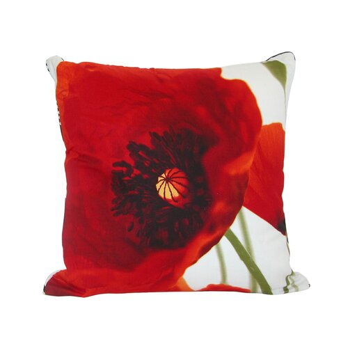 Mary Poppy Cotton Pillow