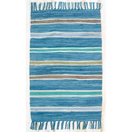 Cottage Bermuda Blue Stripe Rug
