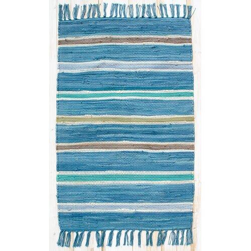 Cottage Bermuda Blue Stripe Rug