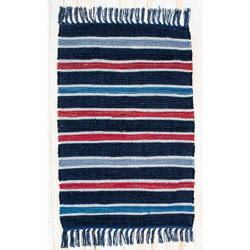 Cottage Navy Stripe Rug