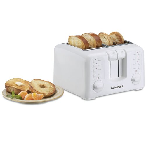 Cuisinart White Appliances Compact 4-Slice Toaster