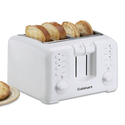 White Appliances Compact 4-Slice Toaster