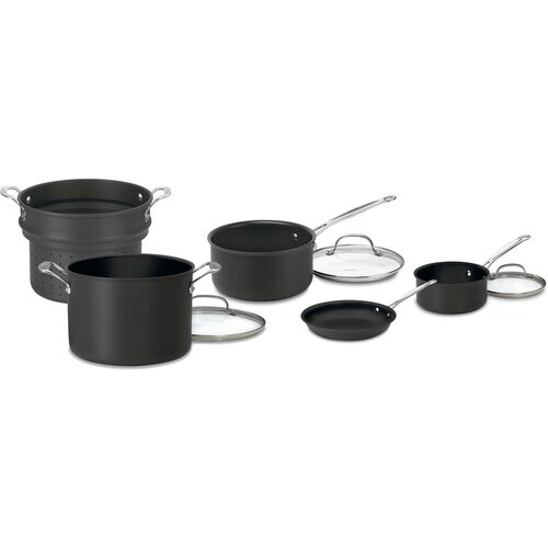 Chefs Classic 8-Piece Non-Stick Hard Anodized Cookware Set