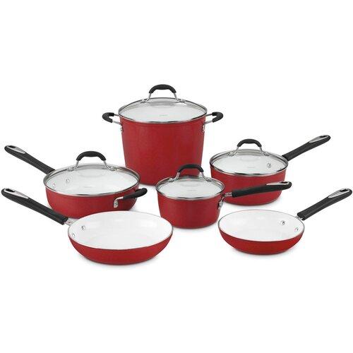 Elements 10-Piece Non-Stick Ceramic Cookware Set