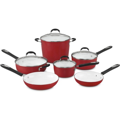 Elements 10-Piece Non-Stick Ceramic Cookware Set
