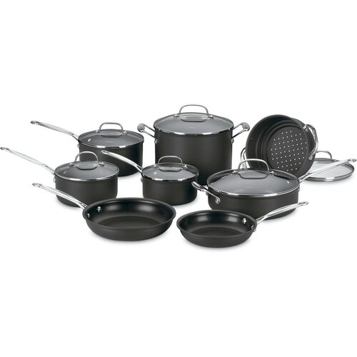 Chef's Classic Nonstick Hard-Anodized 14-Piece Cookware Set