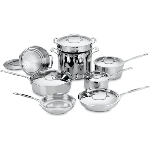 Chef's Classic Stainless Steel 14-Piece Cookware Set