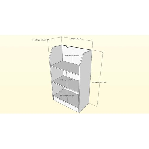 "Nexera Taxi 3 Shelf 46.13"" Bookcase"