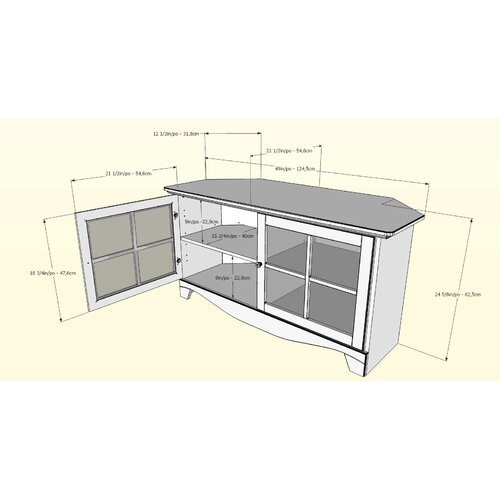 Nexera Pinnacle 49'' TV Stand