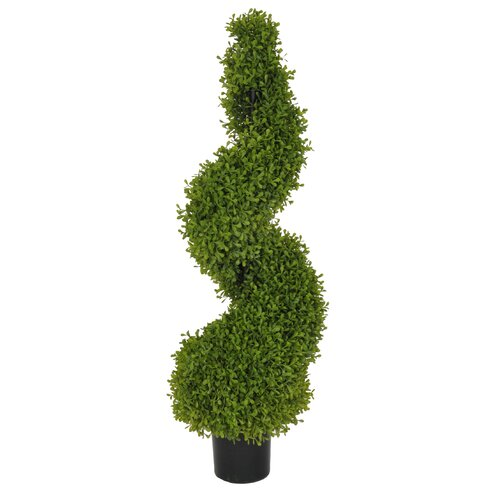 Artificial Boxwood Spiral Topiary