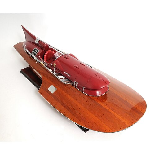 Old Modern Handicrafts Ferrari Hydrolane Ready Model Boat