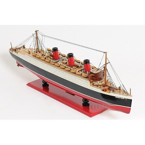 Old Modern Handicrafts Large Queen Mary Model Ship