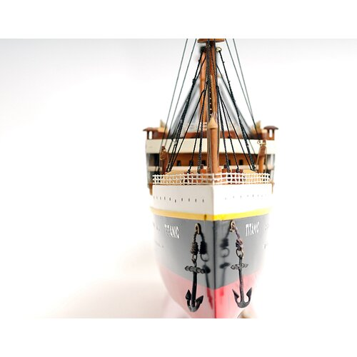 Old Modern Handicrafts Lage Titanic Painted Model Ship