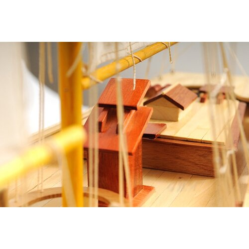 Old Modern Handicrafts Medium Bluenose Ii Painted Model Boat
