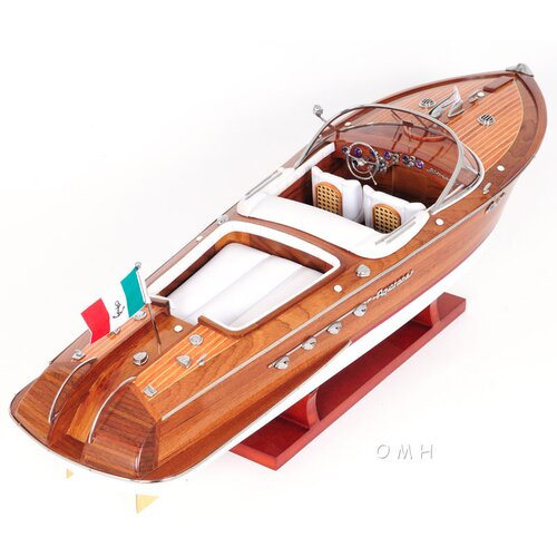 Old Modern Handicrafts Riva Aquarama Painted Bottom Model Boat