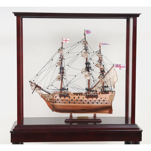 Old Modern Handicrafts Tall Ship Display Case