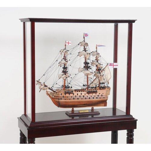 Old Modern Handicrafts Tall Ship Display Case