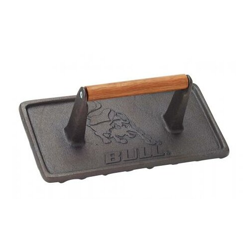 Bull Outdoor Products Cast Iron Rectangular Grill Press