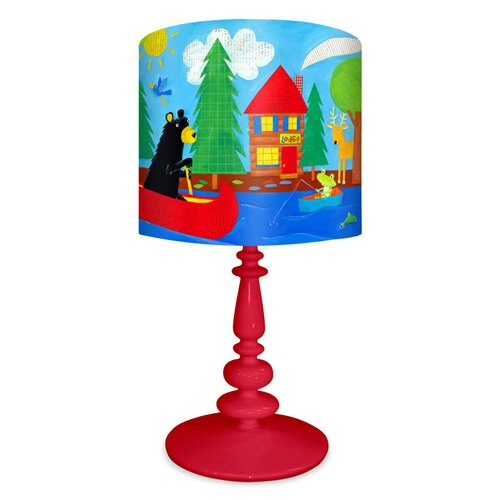 Oopsy Daisy Black Bear Lodge Table Lamp
