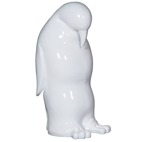 Resin Down Penguin Sculpture