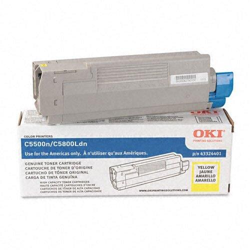 43324401 OEM Toner Cartridge, 5000 Page Yield, Yellow