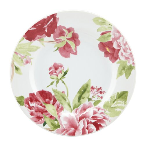 "Kathy Ireland by Gorham Blossoming Rose 6.6"" Canape Plates"