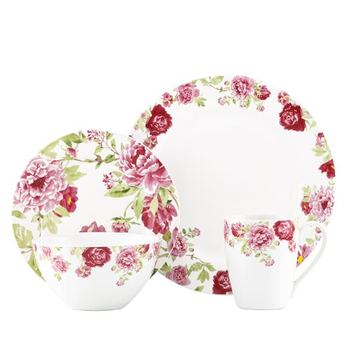 Blossoming Rose 4 Piece Place Setting