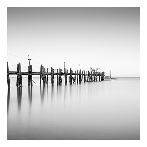 iCanvasArt China Camp Pano, by Moises Levy Part 2 of 3 Photographic Print on Canvas in Black / White