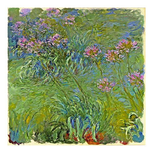 iCanvasArt 'Agapanthus Flowers' by Claude Monet Painting Print on Canvas