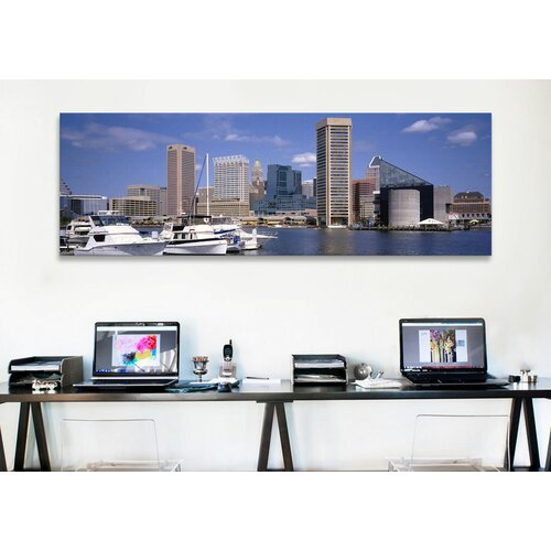iCanvasArt Panoramic Baltimore, Maryland Photographic Print on Canvas