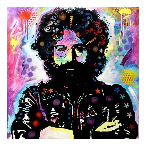 "iCanvasArt ""Jerry Garcia"" Canvas Wall Art by Dean Russo"