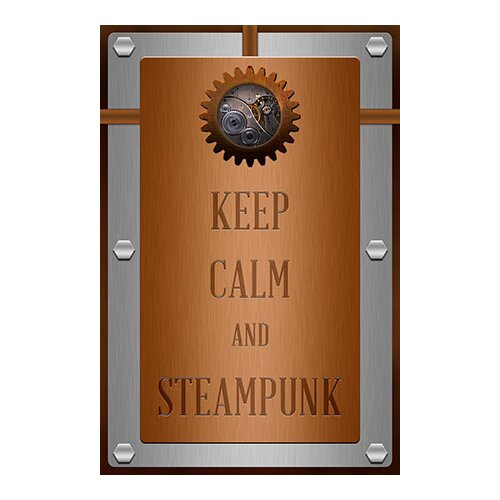 iCanvas Keep Calm and Steampunk Textual Art on Canvas