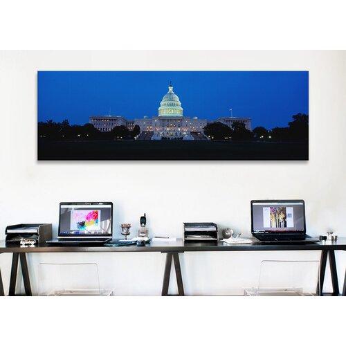 iCanvasArt Panoramic Capitol Building, Washington DC Photographic Print on Canvas