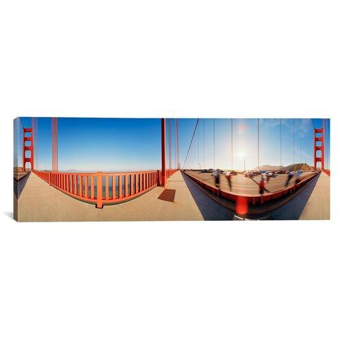 iCanvasArt Panoramic Golden Gate Bridge, San Francisco, California Photographic Print on Canvas