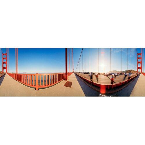 iCanvasArt Panoramic Golden Gate Bridge, San Francisco, California