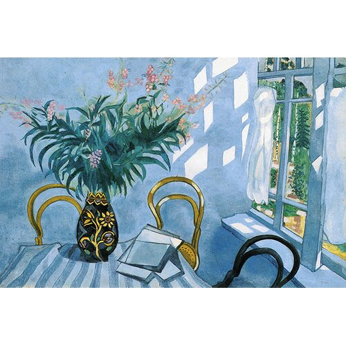 iCanvasArt 'Interior with Flowers, 1918' by Marc Chagall Painting Print on Canvas