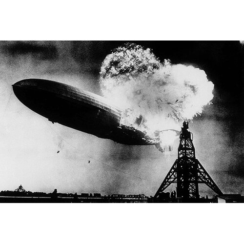 iCanvasArt 'Hindenburg Disaster' by Murray Becker Photographic Print on Canvas