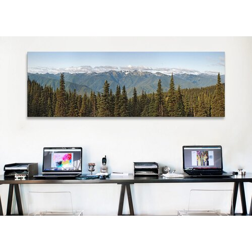 iCanvasArt Panoramic 'Olympic Mountains, Hurricane Ridge, Olympic National Park Washington State' Photographic Print on Canvas