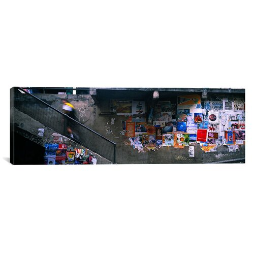 iCanvasArt Panoramic Post Alley to Post Market, Seattle, Washington State Photographic Print on Canvas